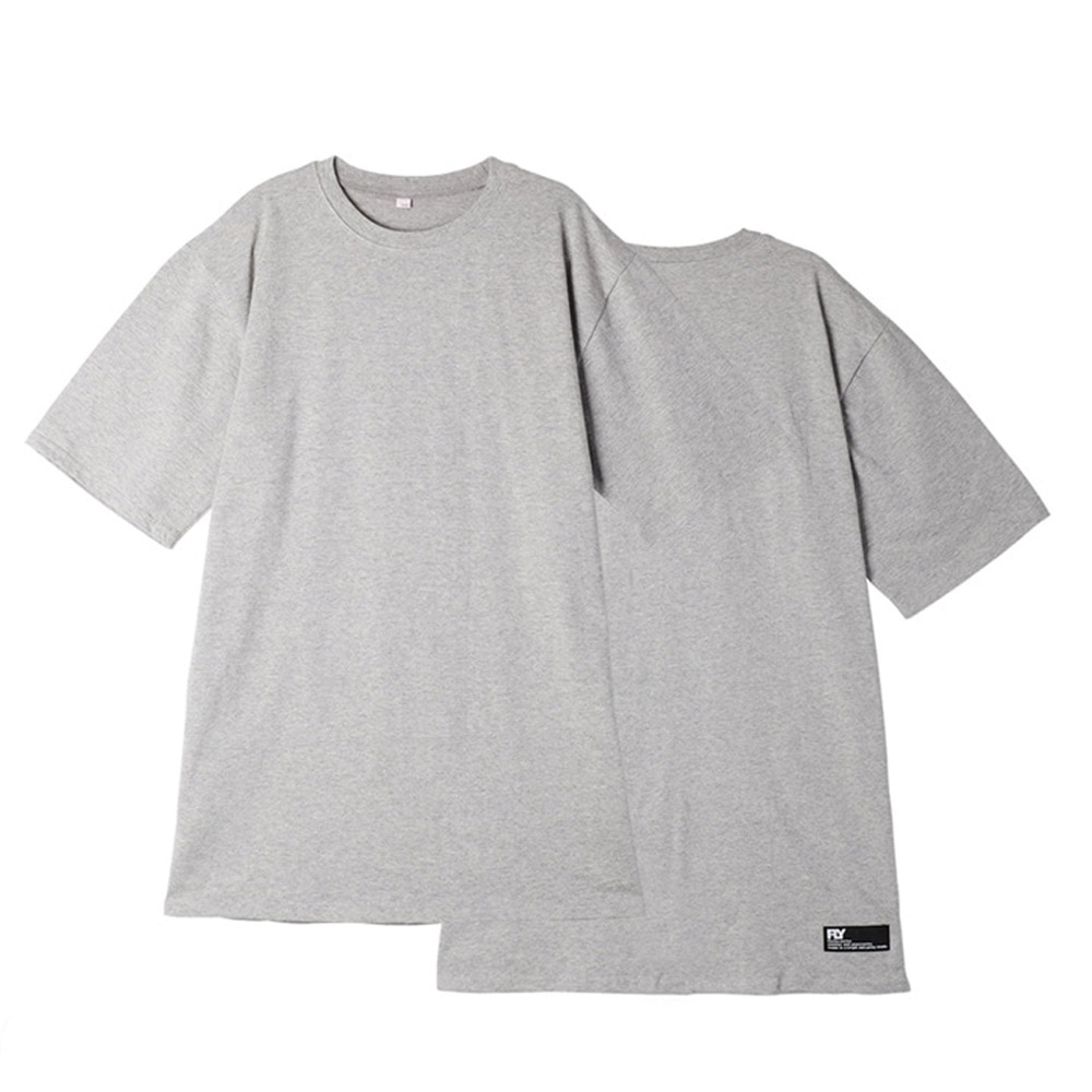 [UNISEX]스탠다드 레이어드 롱 티셔츠(Grey)