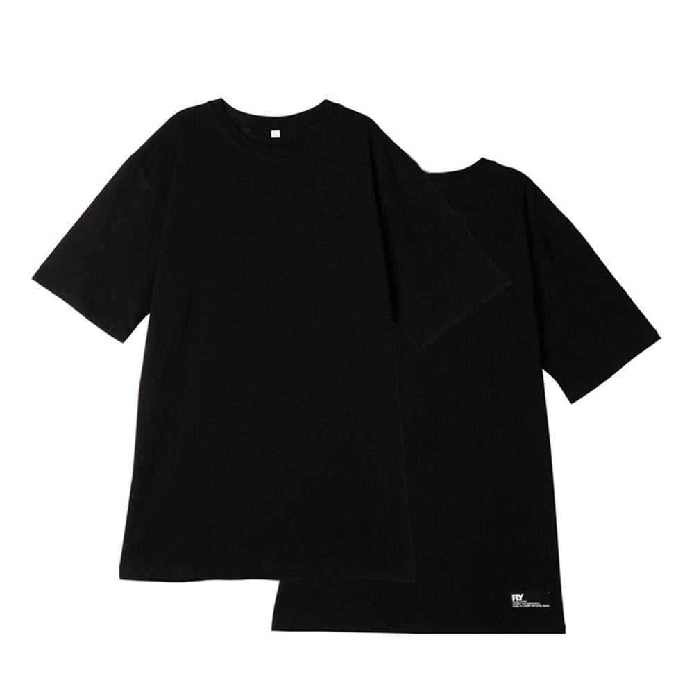 [UNISEX]스탠다드 레이어드 롱 티셔츠(Black)