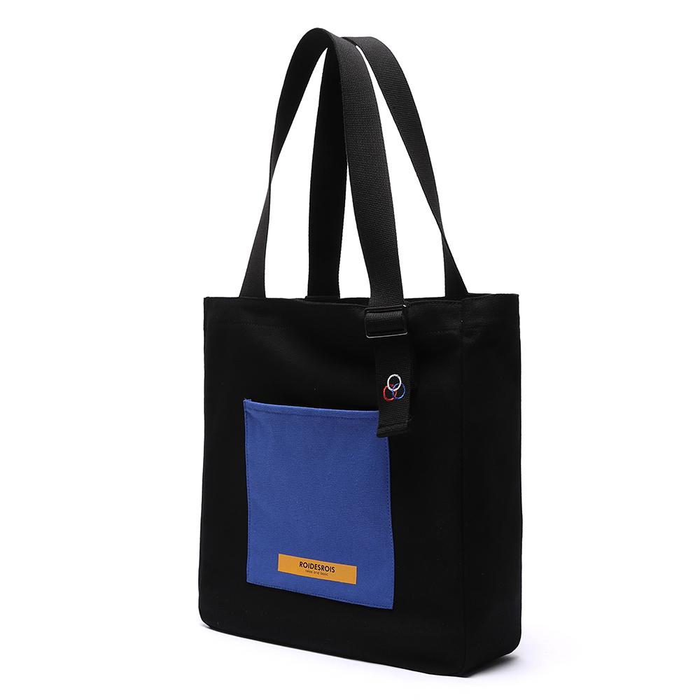 COLOR BLOCK SHOULDER BAG (BLACK)