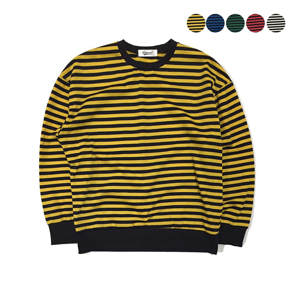 Color Pop Stripe Sweatshirt(5color)(unisex)