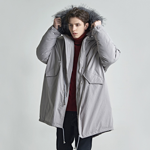 raccon duck down fleld jacket_gray