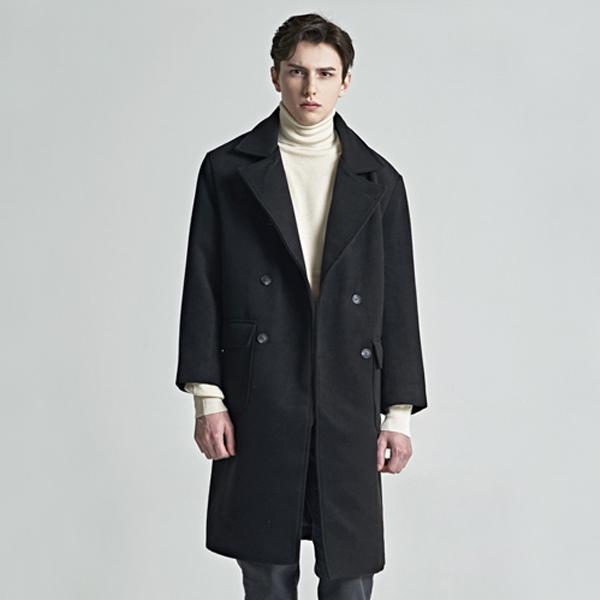 two fold double coat_black