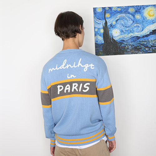[unisex] midnight knit (sky blue)