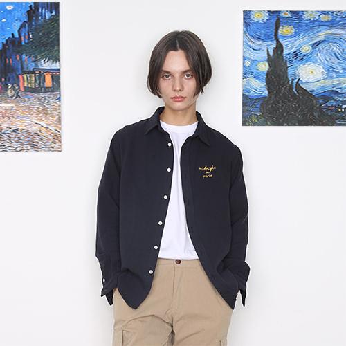 [unisex] daily shirt (navy)