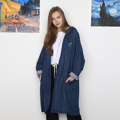 [unisex] hood coat (denim)