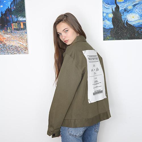 [unisex] ticket jacket (khaki)