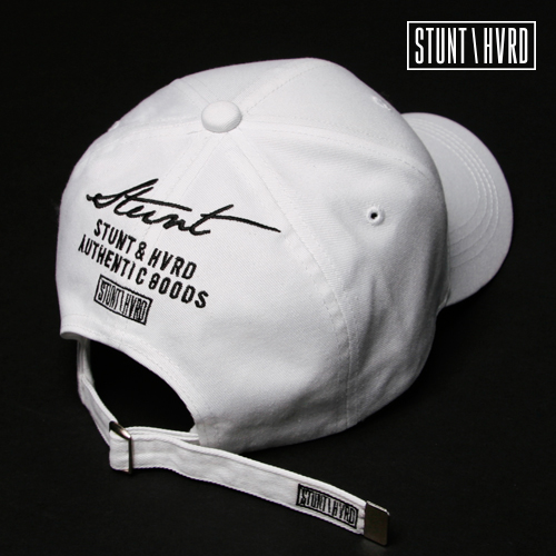 [스턴트] Logo Backup Curved Cap (White)