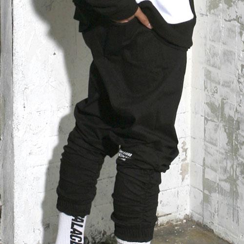 [스턴트] Shirring Jogger Pants (Black)