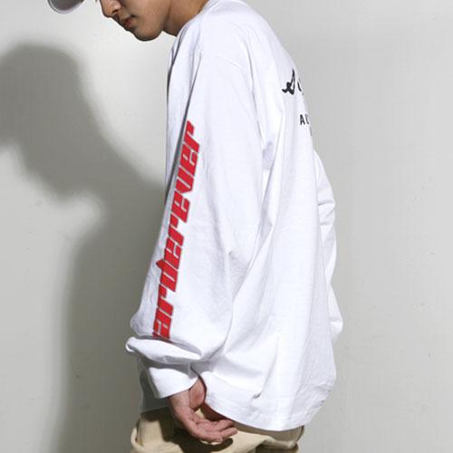 [스턴트] Harder Bass Long Sleeves (White)