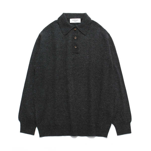 (Unisex) Cashmere Collar Neck Knit_Charcoal