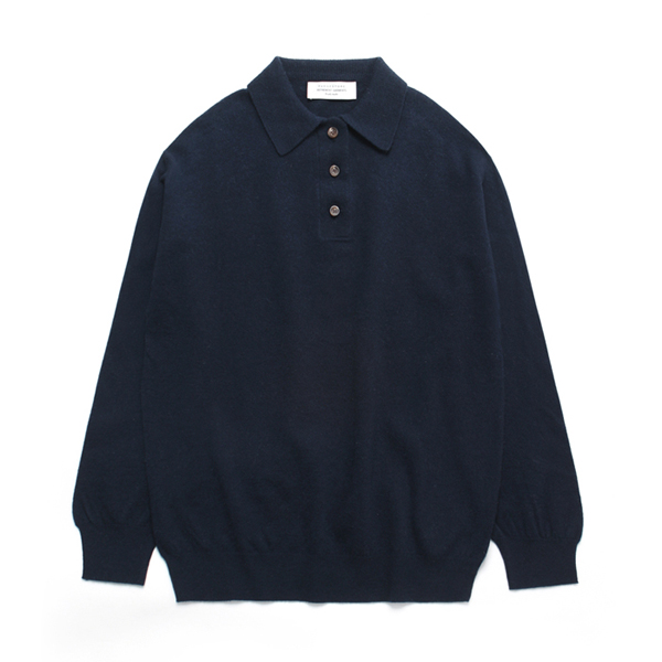 Cashmere Collar Neck Knit_Navy