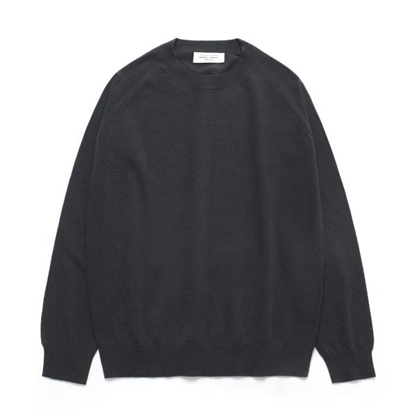 (Unisex) Cashmere Round knit_Black Bean