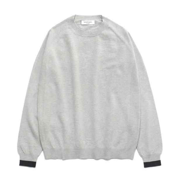 (Unisex) Line Cashmere Round knit_Cloud