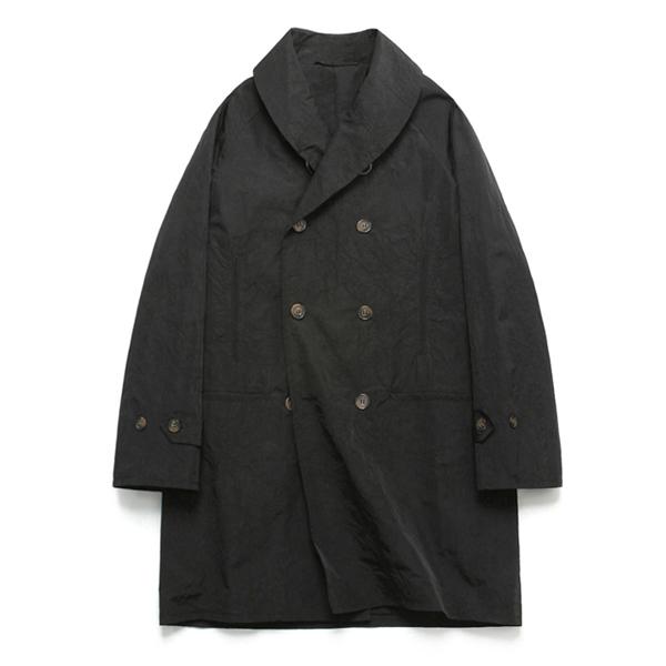 (Unisex) Shawl Collar Rain Coat_Black