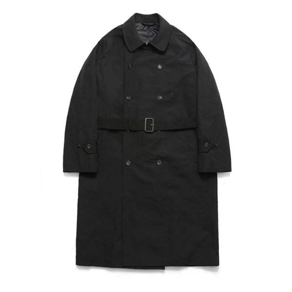 (Unisex) Classic Over Trench Rain Coat_Black