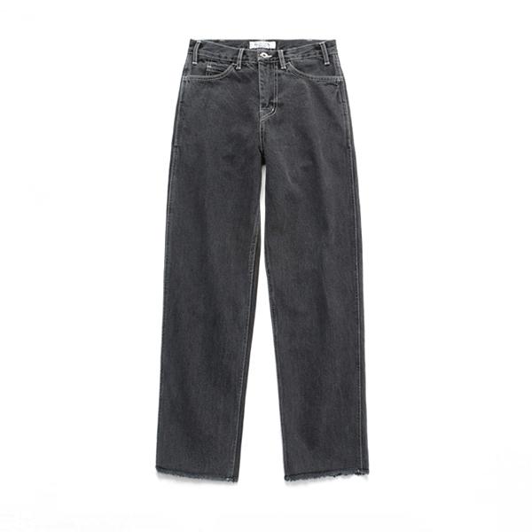(Unisex) Relax Crop Jeans_Black