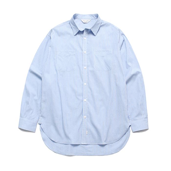 (Unisex) Alternate Stripe Shirt_Sky