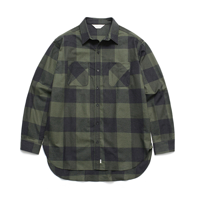 (Unisex) Gingham Check Shirt Green
