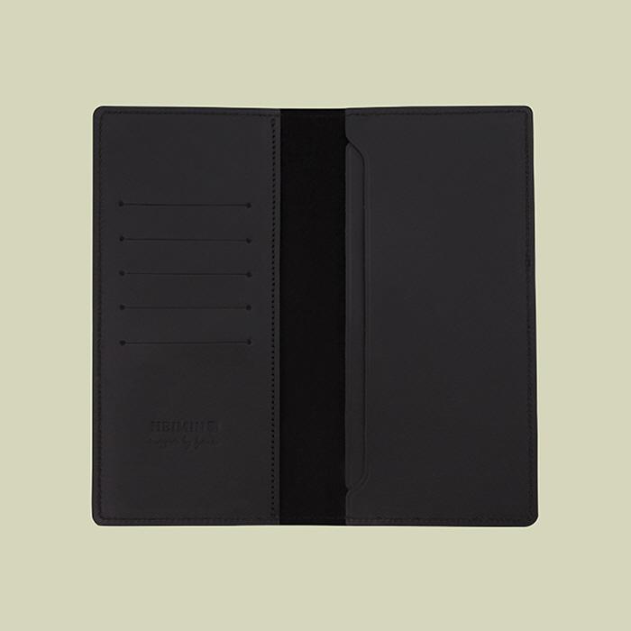 핸드폰 수납 장지갑 매트 블랙