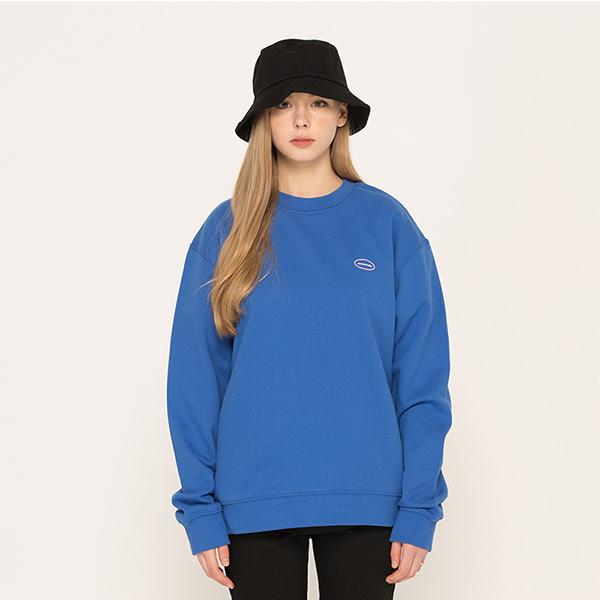 에스 로고 스웨트셔츠 맨투맨 블루