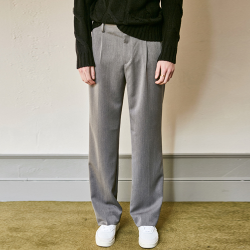 SEMI WIDE SLACKS_CHARCOAL