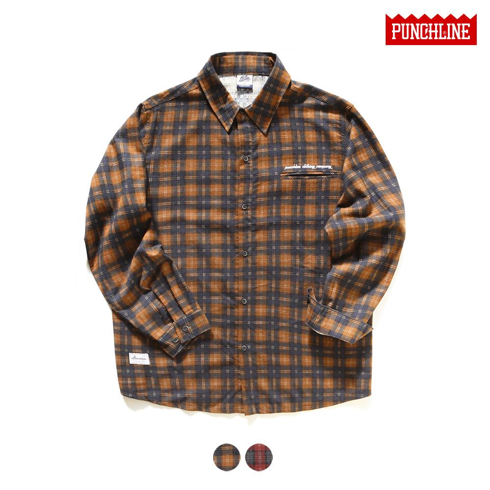 [펀치라인] 레프트포켓 셔츠 2종 KHLS6082