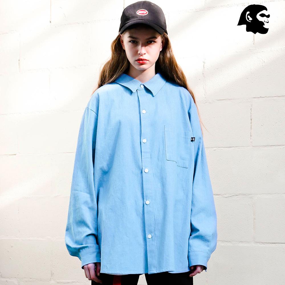 [퍼스텝] 데님 루즈핏 셔츠 2종 SMLS4107