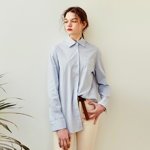 ROSE CLASSIC STRIPE SHIRT_SKY BLUE