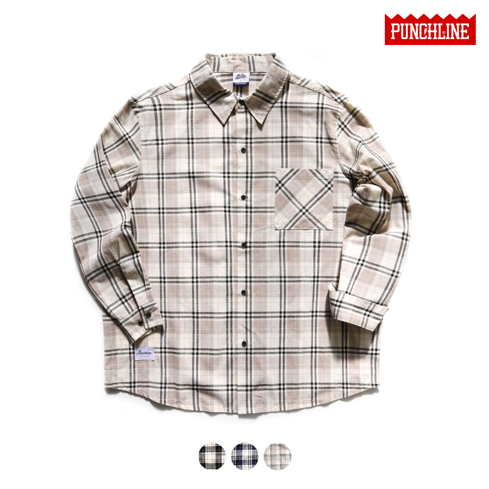 [펀치라인] 마일드 셔츠 3종 KHLS6083