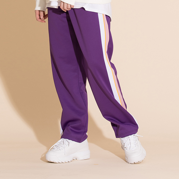 SIDE LINE TRACK PANTS PURPLE