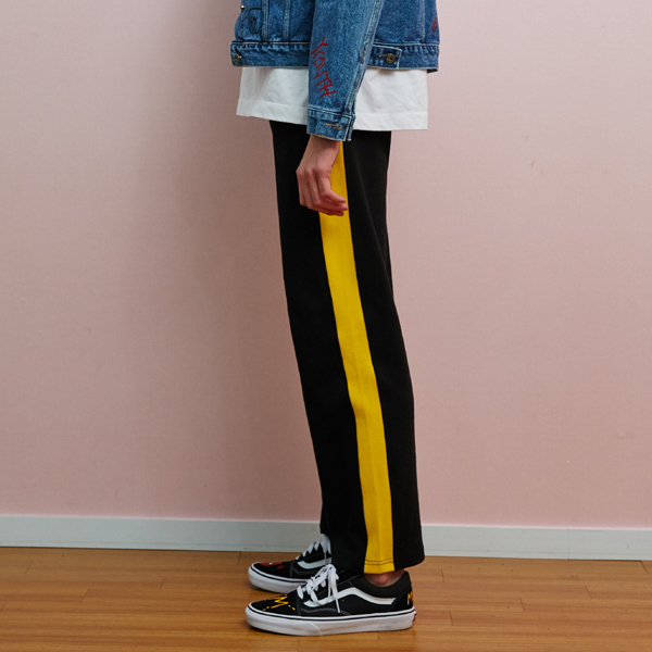 [unisex] line pants (yellow)