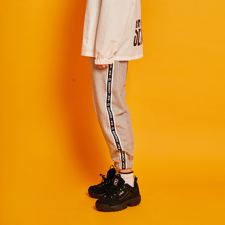 [단독할인](양기모) UNISEX LINE TAPE TRACK PANTS _ GRAY