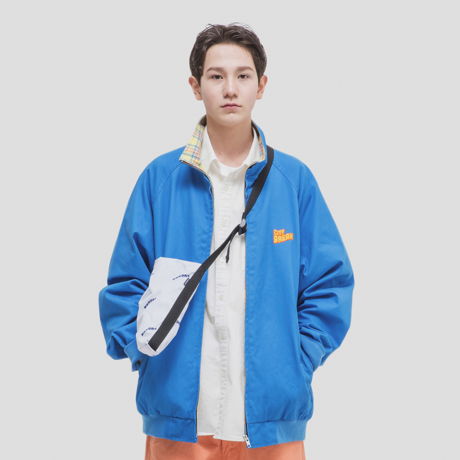 [위캔더스] CITY BREAK BLOUSON BLUE