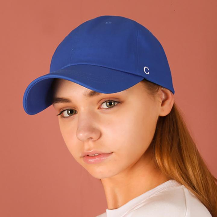 [UNISEX]C logo buckle cap(blue)