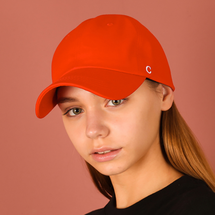 [UNISEX]C logo buckle cap(red)