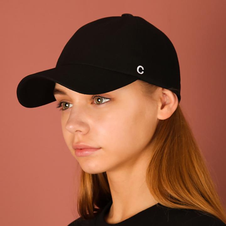 [UNISEX]C logo buckle cap(black)