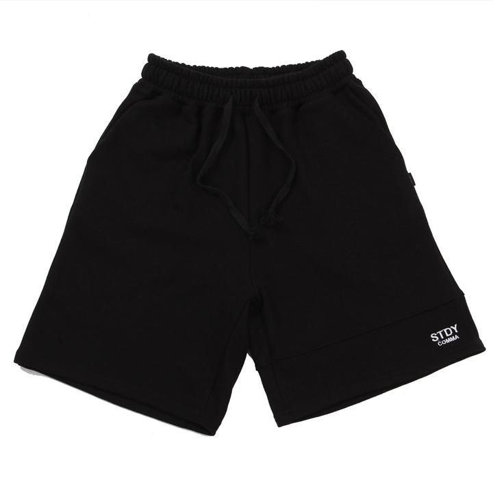 [UNISEX]STDYCOMMA BASIC HALF PANTS(BLACK)