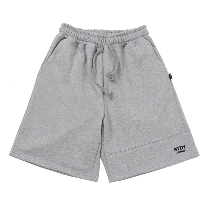 [UNISEX]STDYCOMMA BASIC HALF PANTS(GREY)