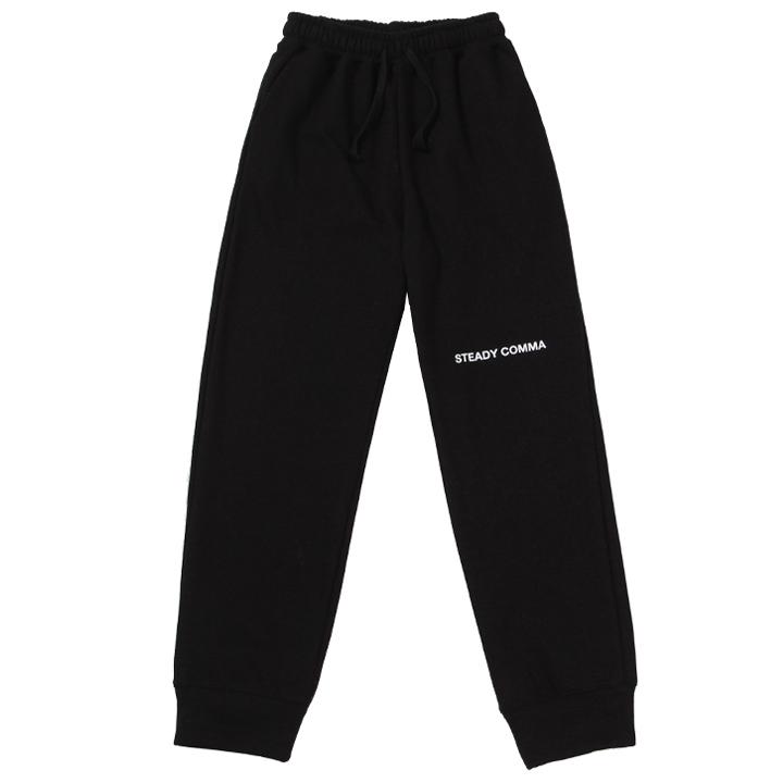 [UNISEX]STDY COMMA TRAINING PANTS(BLACK)