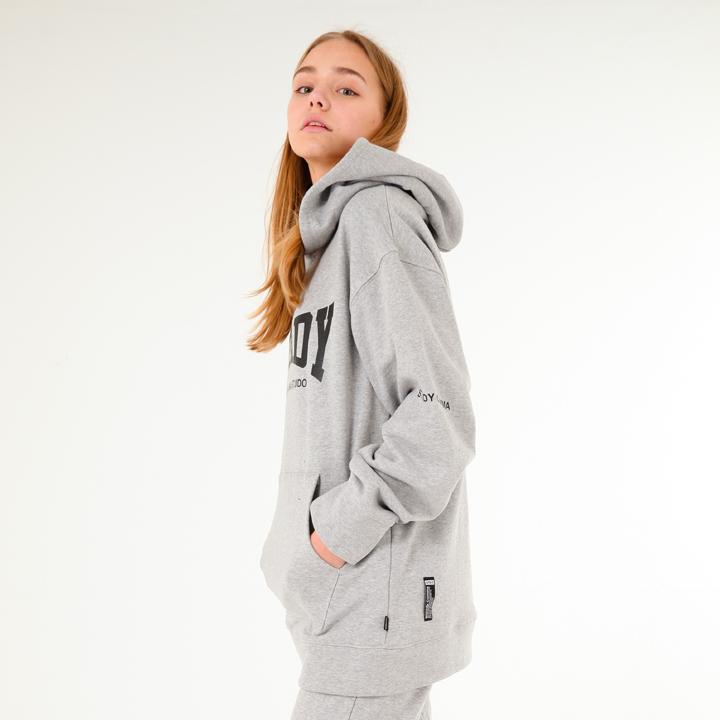 [UNISEX]Arch logo basic training hoodie(grey)