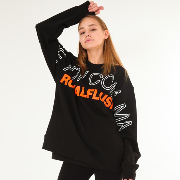 [UNISEX]ROYAL FLUSH Sweatshirts(black)