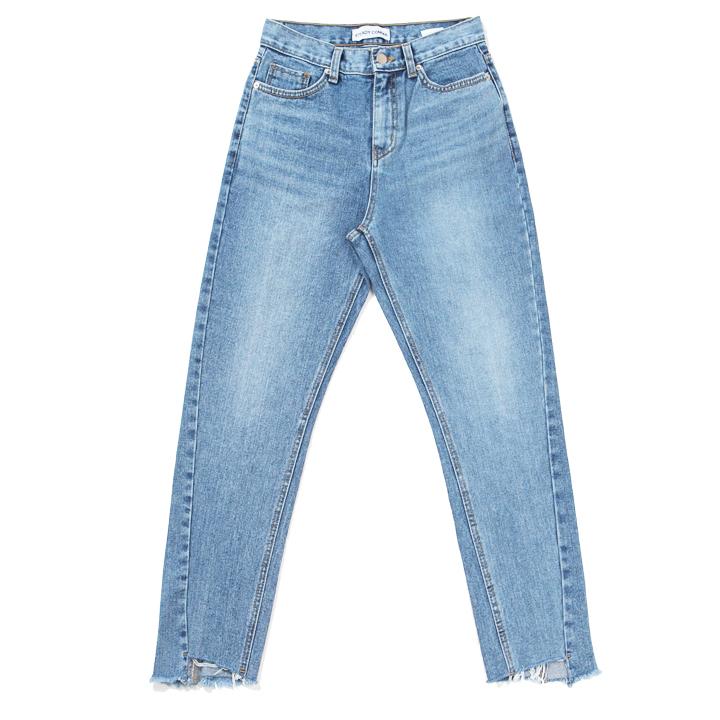 [WOMAN]STDC brush washing denim pants(light blue)