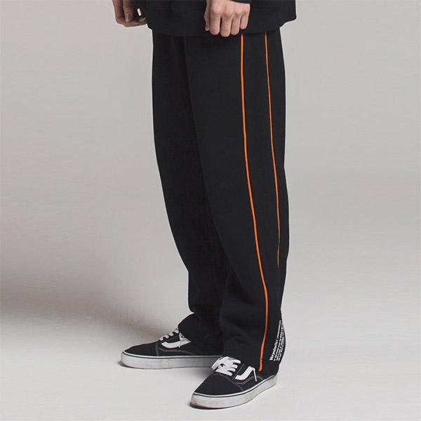 ORANGE LINE PANTS BLACK