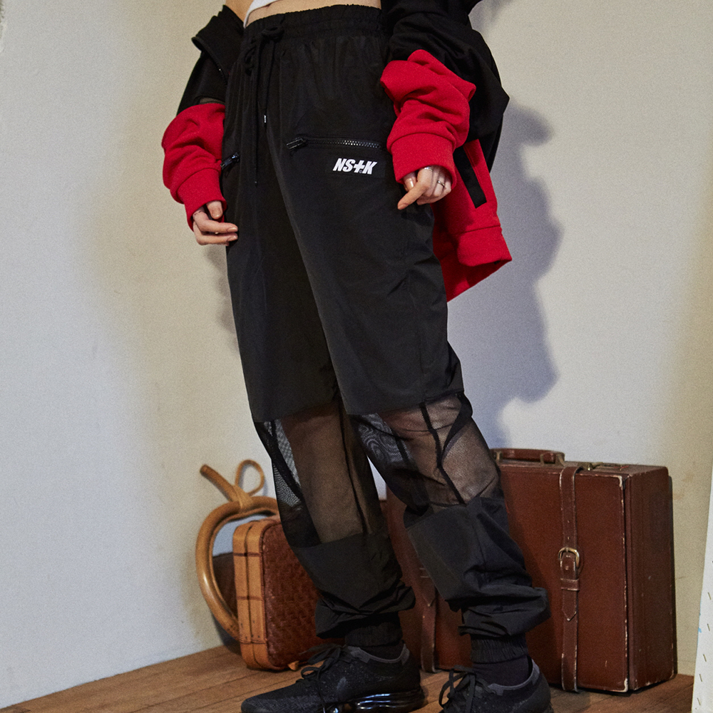 [NSTK] MESH POINT JOGGER PANTS (BLK)