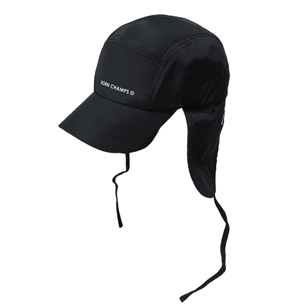 BC EAR FLAP CAP BLACK CERFMCA04BK