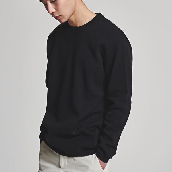[올앤드]남성 넥 리브 조직 심플 스웨터 LMSRH1201-199