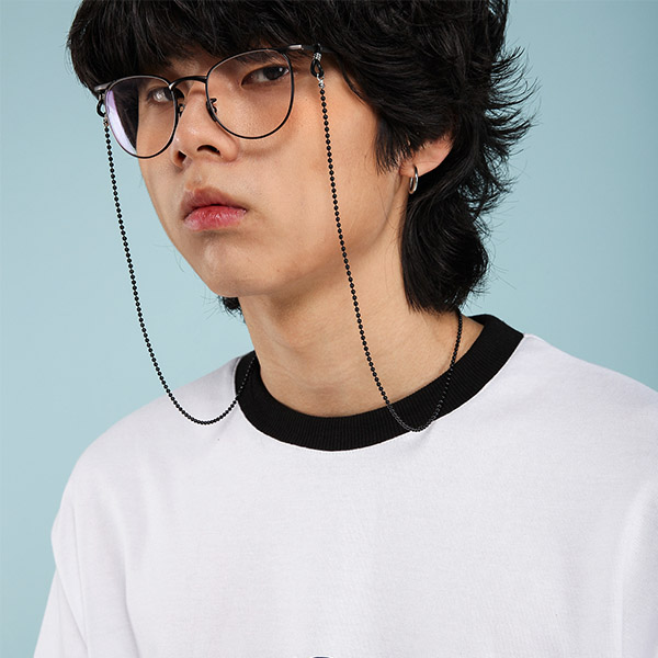 PP-3 체인 안경줄 스트랩 BLACK