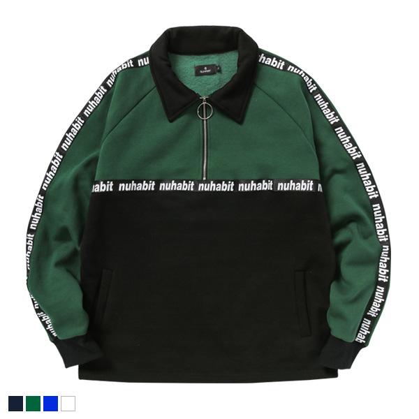 뉴해빗 - 테이핑 카라 지퍼 스웨트셔츠 - 테이핑카라스웨트셔츠 - 4 colors