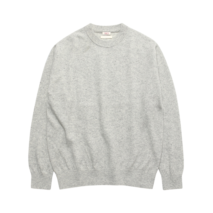 (Unisex) Merino Wool Basic Round Top_Light Grey