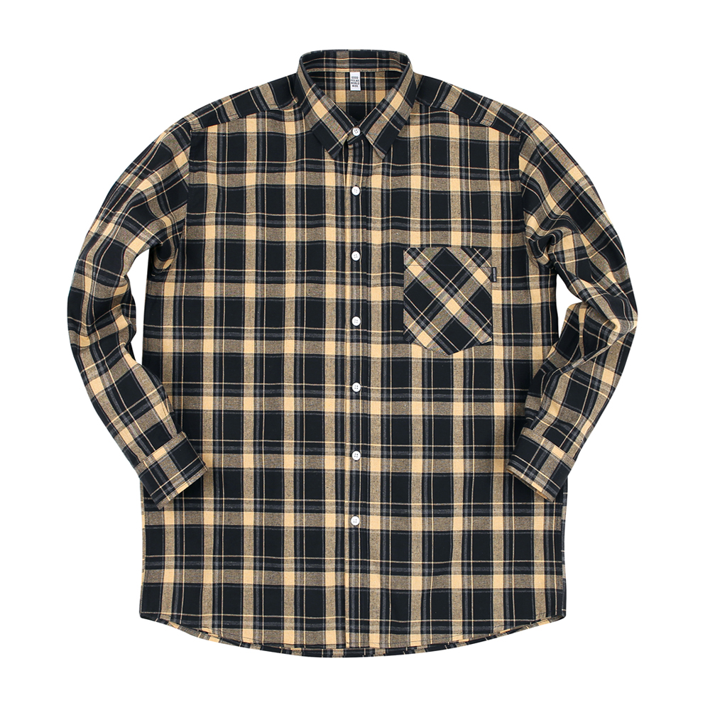 GF 2 Tone Check Shirt Gold